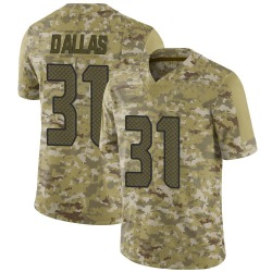 DeeJay Dallas Seattle Seahawks Youth Limited 2018 Salute to Service Nike Jersey - Camo
